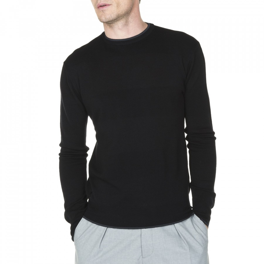 Round collar sweater with logo Montagut Joey