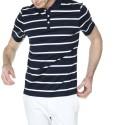 Polo rayé avec logo 100% coton Hélie