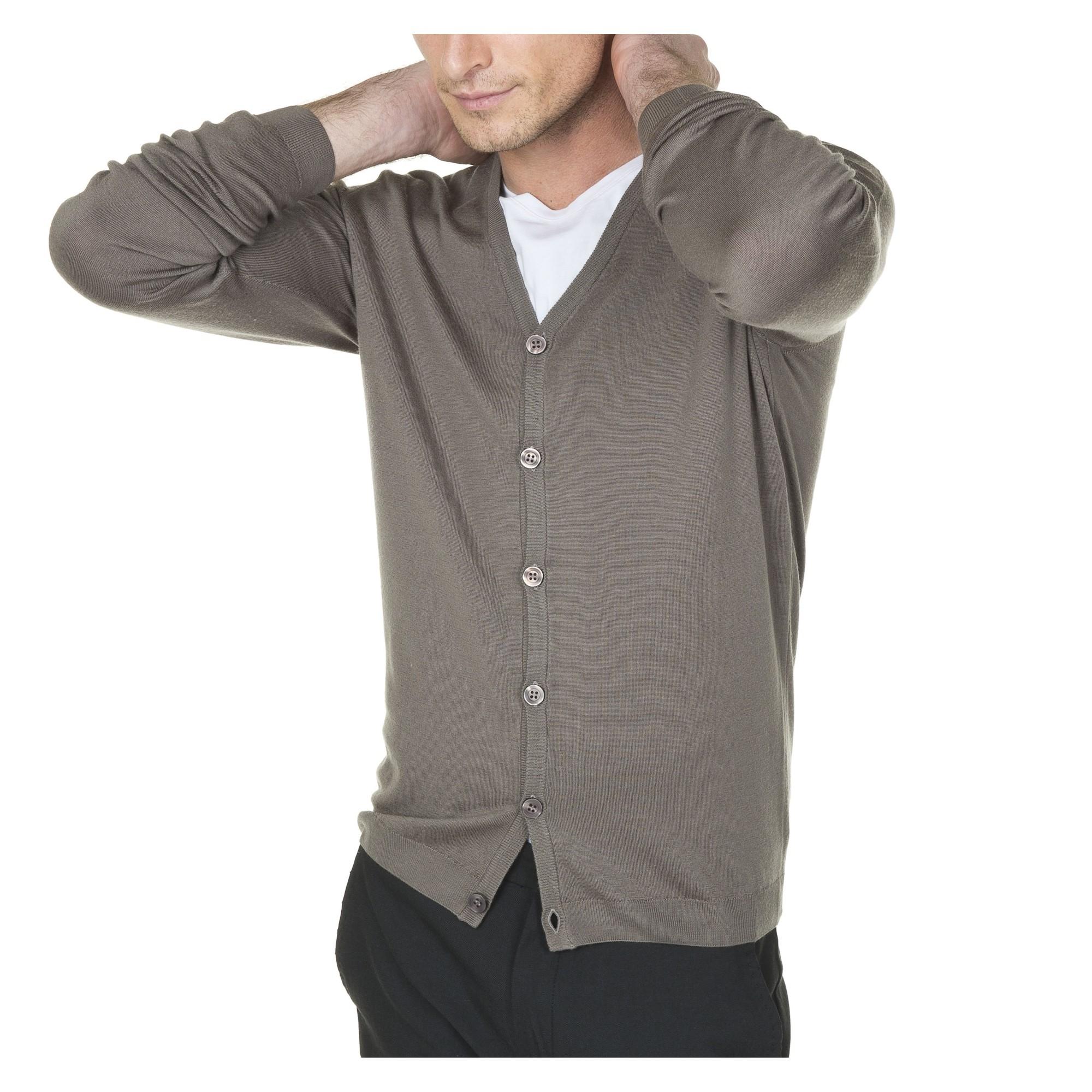 luxe ramasser en ligne à la vente Gilet laine pour homme avec boutons ton sur ton