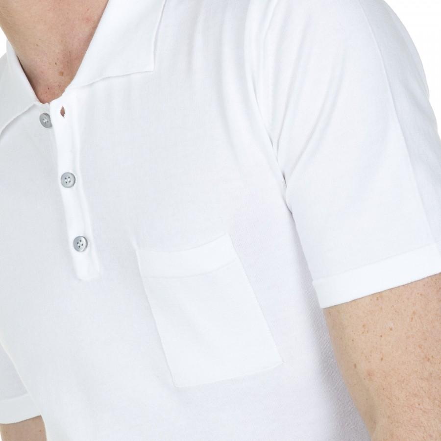 Polo homme 100% coton Dylan 0330 blanc - 02 blanc