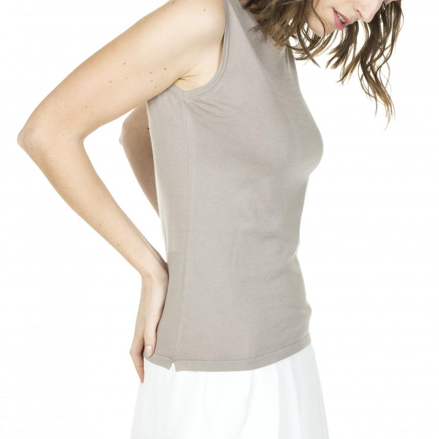100% cotton sleeveless T-shirt Alana