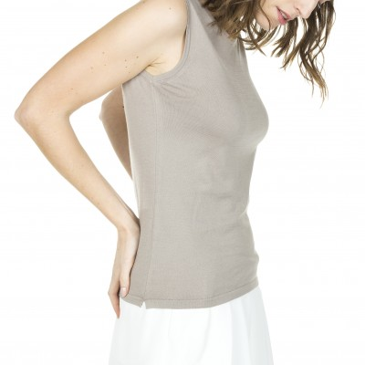 100% cotton sleeveless T-shirt Alana