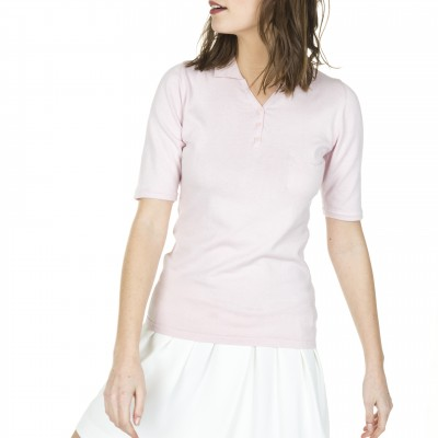 Woman short sleeve polo shirt Filomene