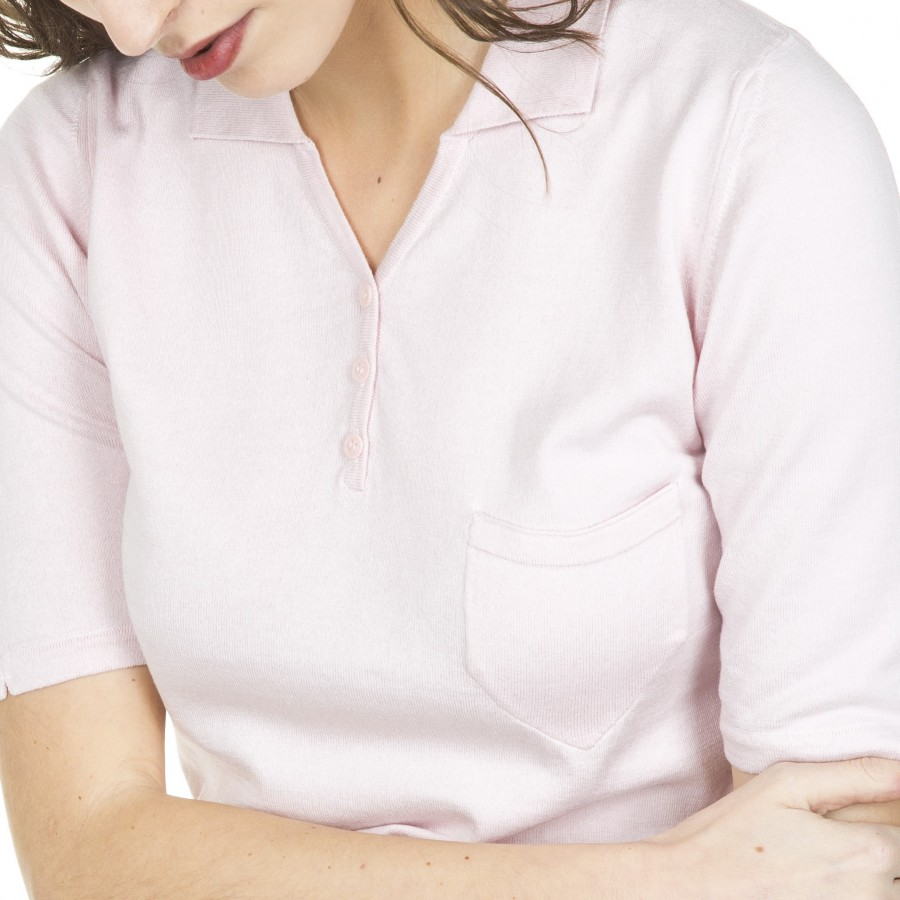 Woman short sleeve polo shirt Filomene