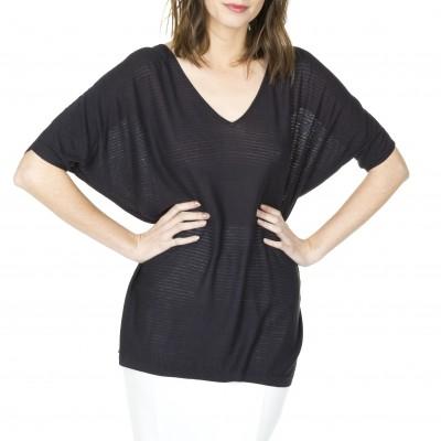 T-shirt manches courtes en soie lin Laurène