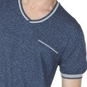 T-shirt manches courtes en coton Lilian 6042 flot - 06 bleu moyen