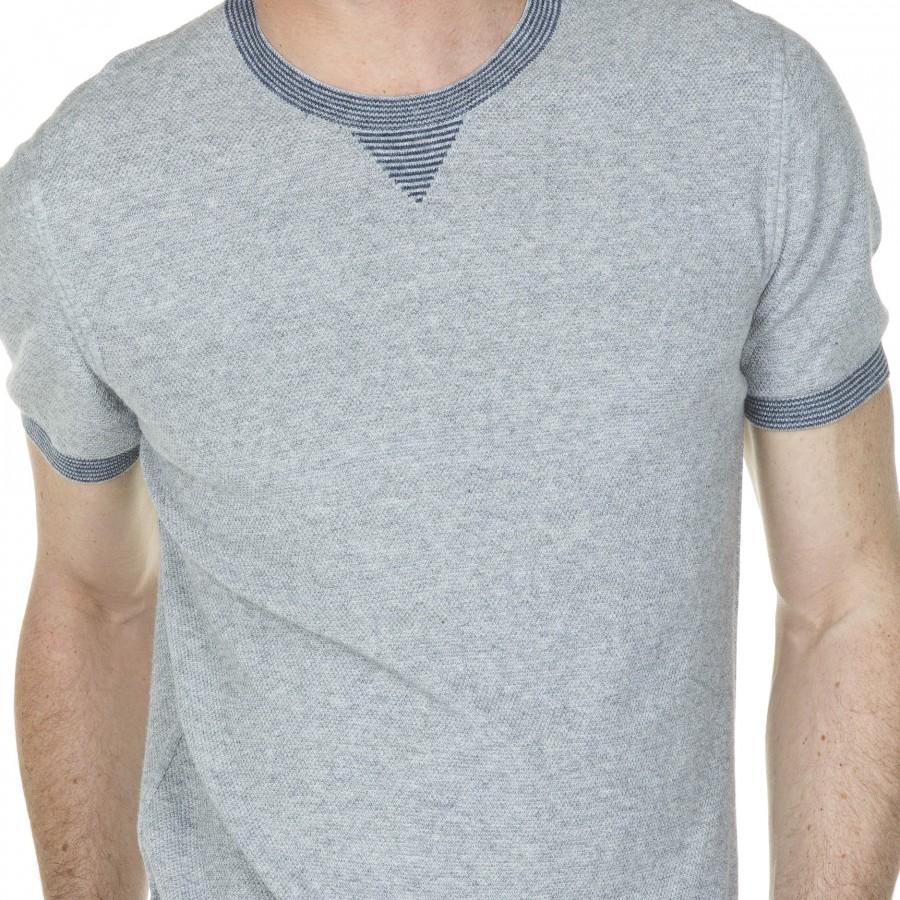 T-shirt manches courtes en coton Léni 6013 gris chine clair - 11 gris clair