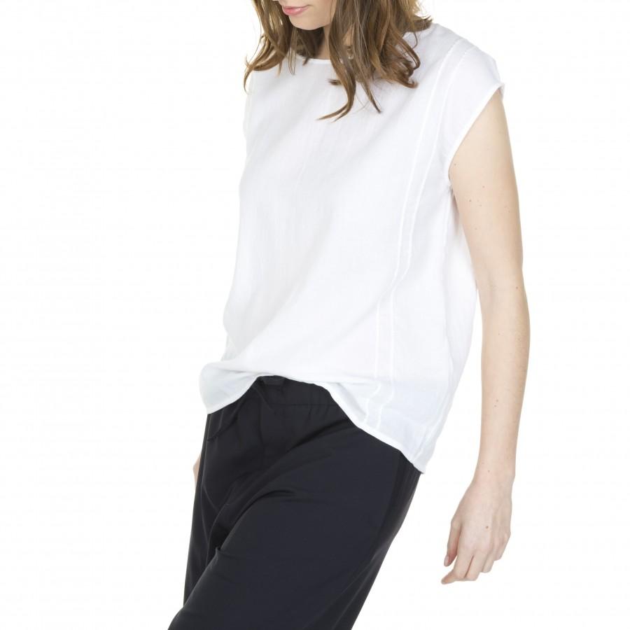 Blouse brodée en voile de coton Lisandre 6000 blanc - 02 blanc