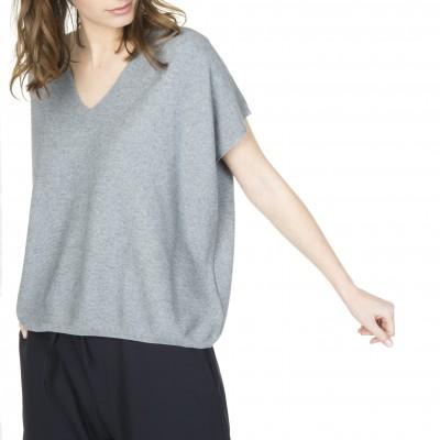 Cashmere oversize t-shirt Lorette