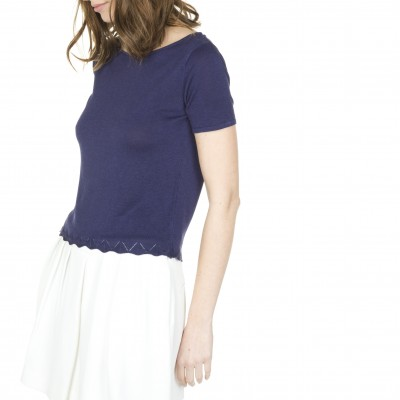 Short sleeve t-shirt in linen silk Lili