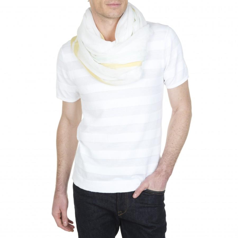 Echarpe en coton Léonide 6000 blanc-02 blanc