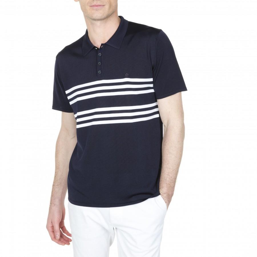 Striped Polo Fil Lumière Lino