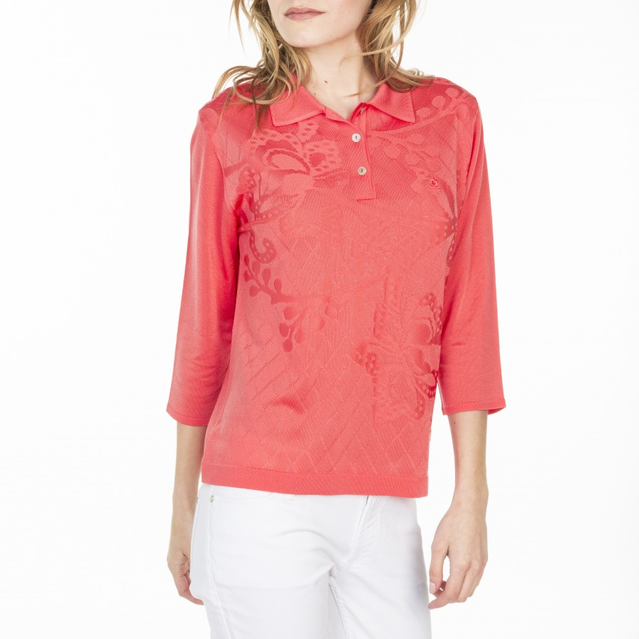 Flower Polo in Fil Lumière Lucile