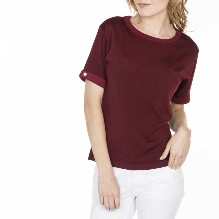 T-shirt uni manches fantaisie en Fil Lumière Laurie 4989 conciergerie-51 bordeaux