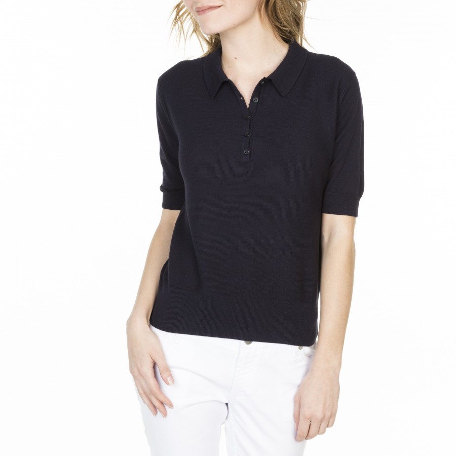 Polo in cotton and cashmere Leslie
