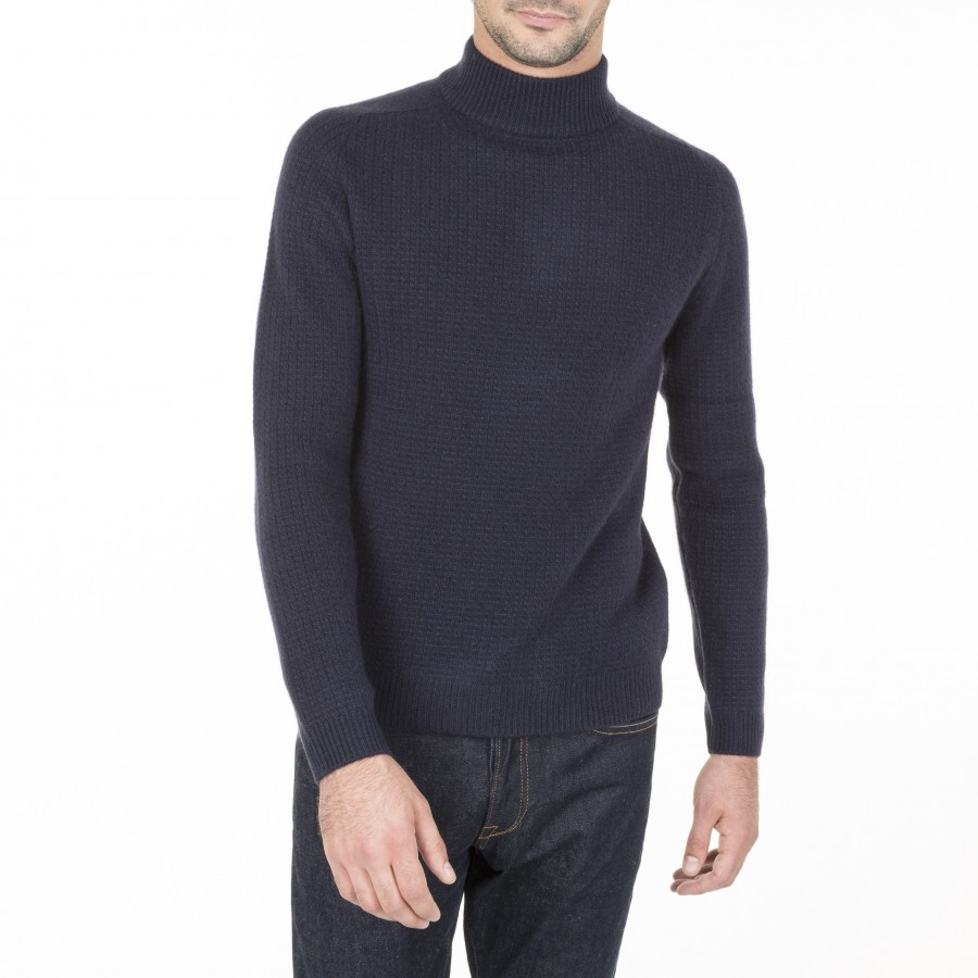 Pull col montant en cachemire Maurice
