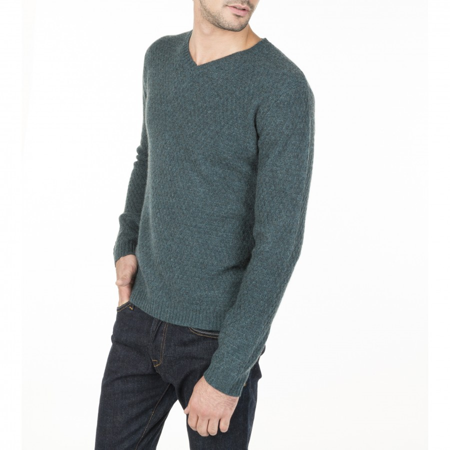 Fancy Cashmere V-neck Sweater  Manu