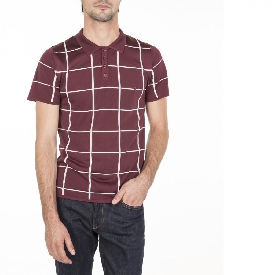 Men's Polo Shirt Fil Lumière Marin