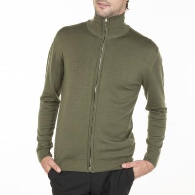 Gilet 100% laine col zippé sans poches Benny