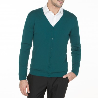 Cardigan 100% wool Bernon