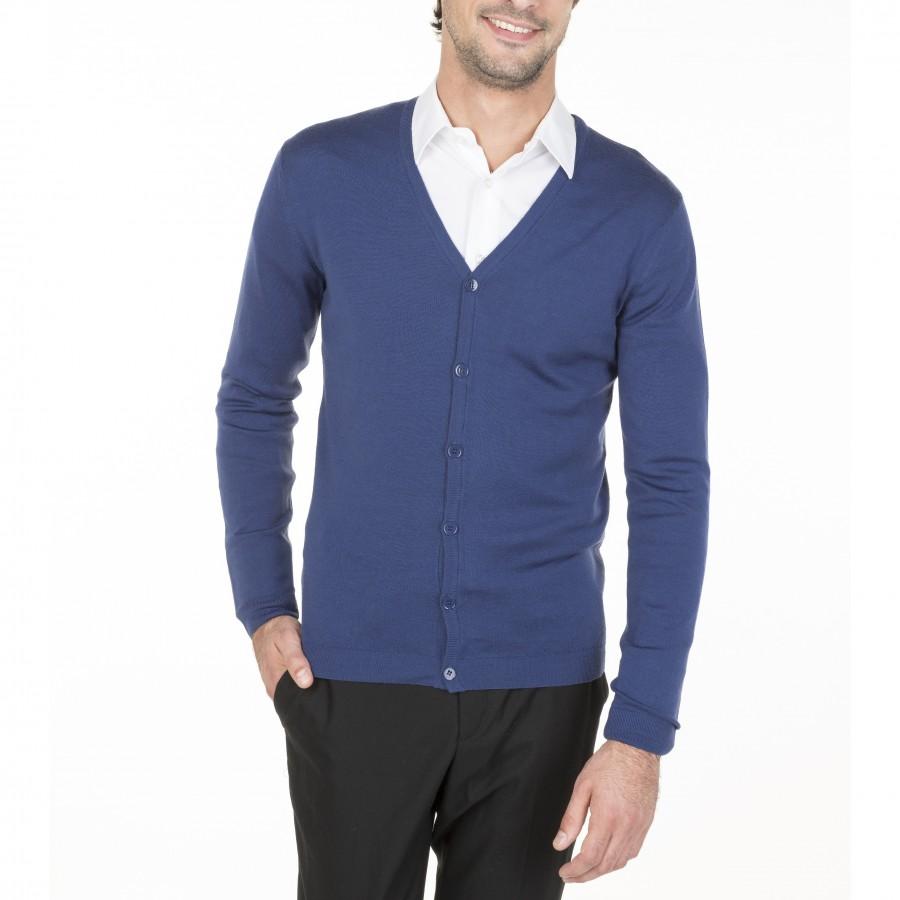Cardigan 100% wool Enrico