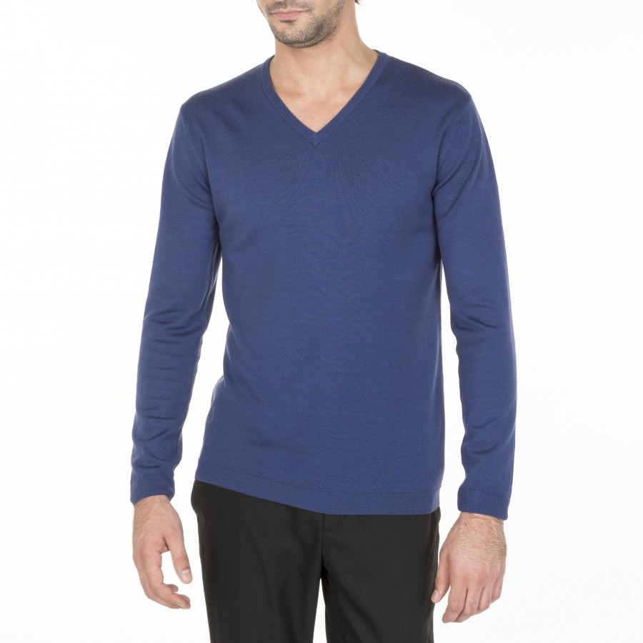 Merino Wool V-neck sweater Bibiane