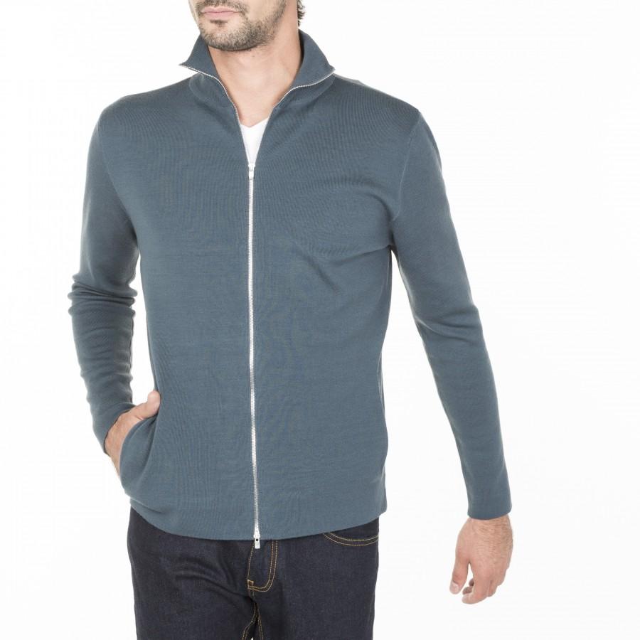 Gilet zippé avec poches en laine Maxence
