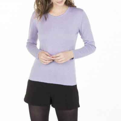 Mock turtleneck pullover made of wool Bourse