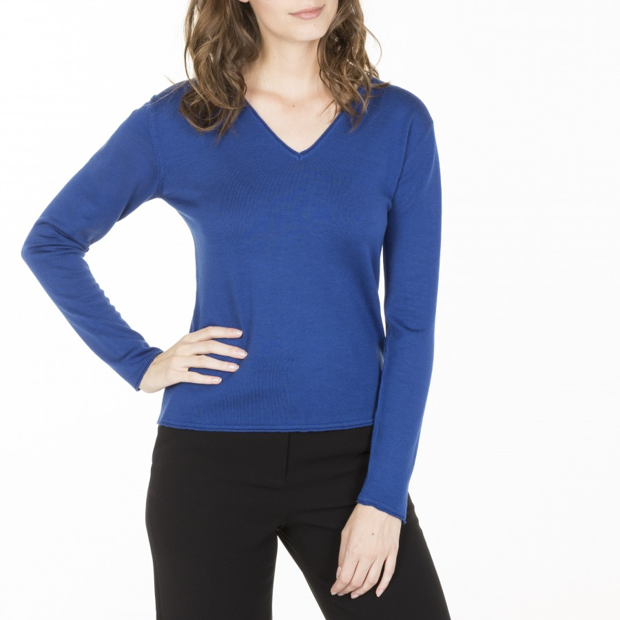 V-neck pullover made of wool  Gallieni