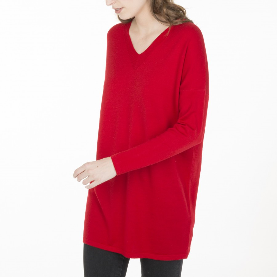 Pull tunique Bercy 6180 Coccin - 52 Rouge
