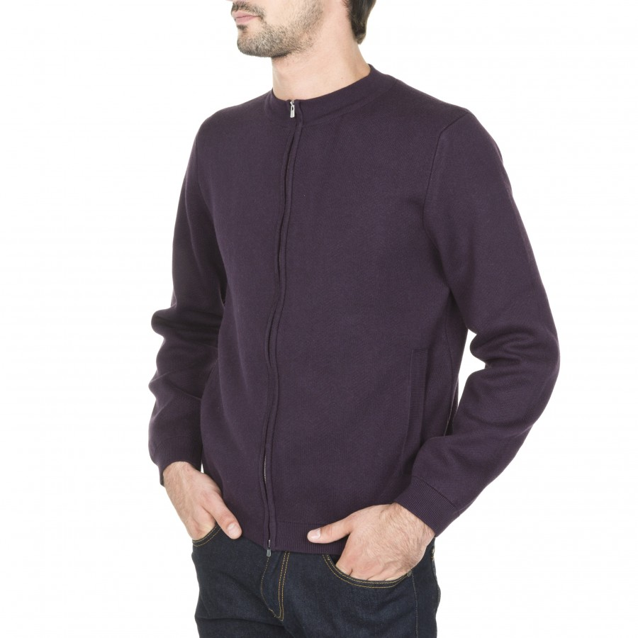Blouson en coton cachemire Mat 6182 bordeaux - 18 violet foncé