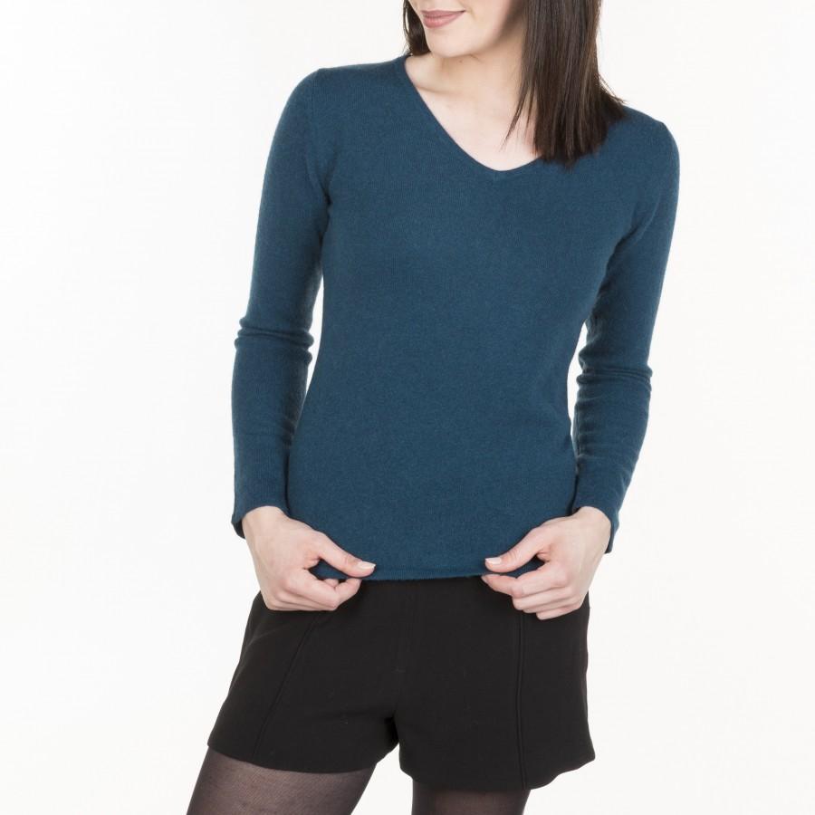 V collar cashmere sweater Hama