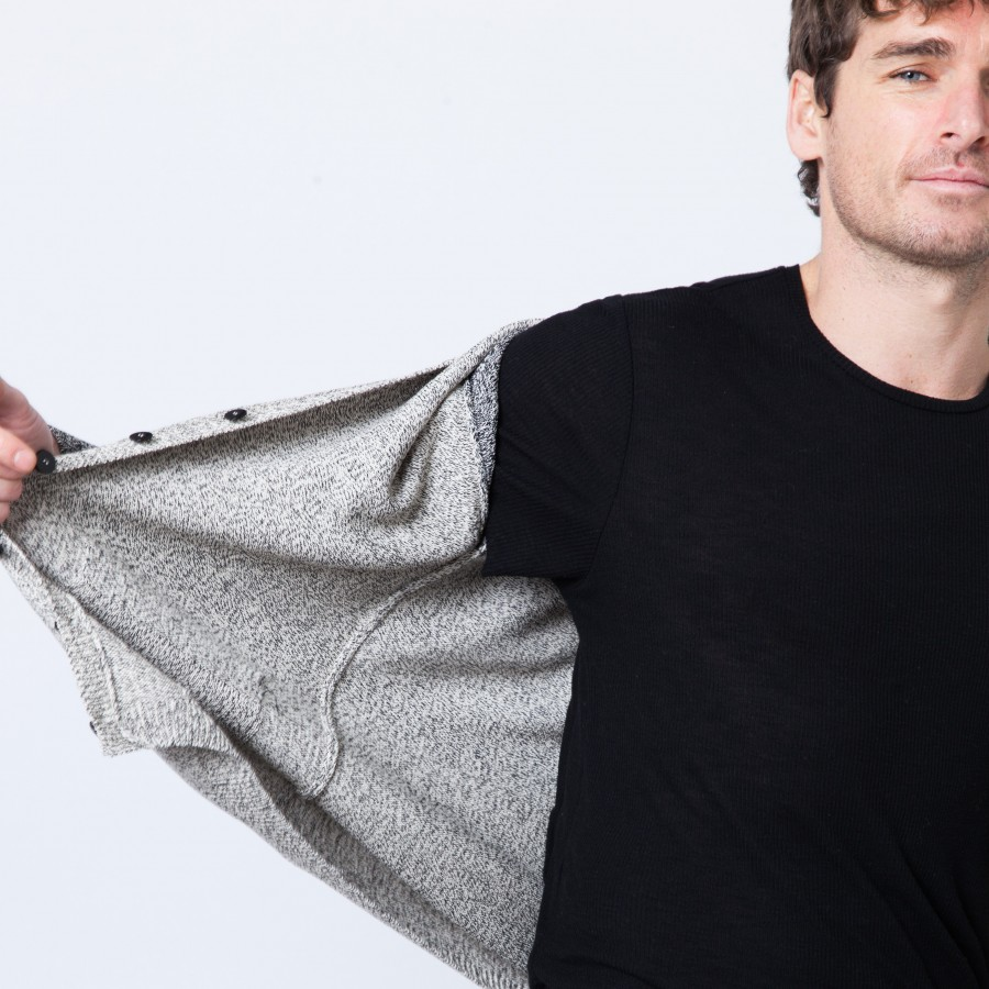 Two-tone cotton vest Benoît