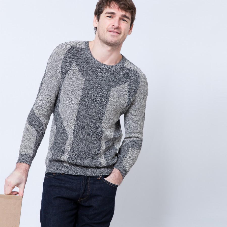 Cotton graphic sweater Béranger