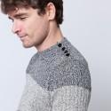 Pull bicolore en coton Bertrand