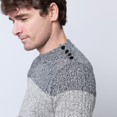Two-tone cotton sweater Bertrand