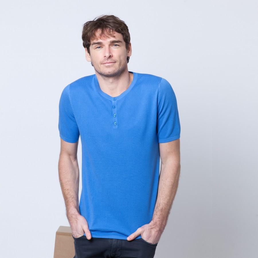 T-shirt en coton Brieux 6245 Boreal - 77 Bleu ciel