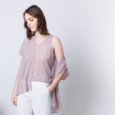 Fancy knitted sleeveless vest Alban