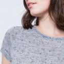 T-shirt maille fantaisie Arlette 6202 Gris chiné clair - austral - 04 Bleu clair