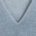 T-shirt col V à motif graphique Axel 6202 Gris chiné clair - austral 04 Bleu clair