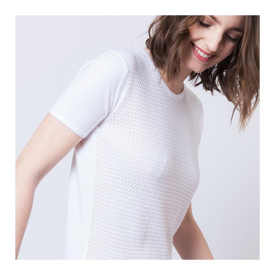 T-shirt maille ajourée Adrian 6200 Blanc - 02 Blanc