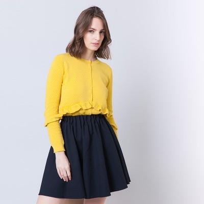 Cotton ruffle vest Andrée
