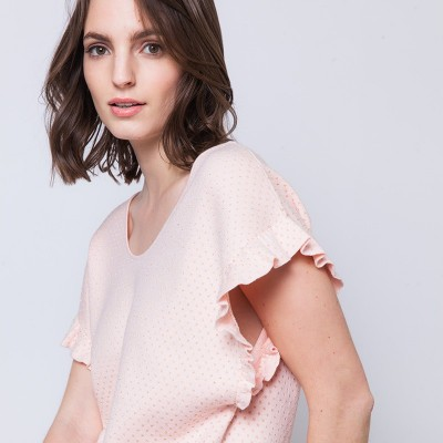 T-shirt with ruffle sleeves Andy