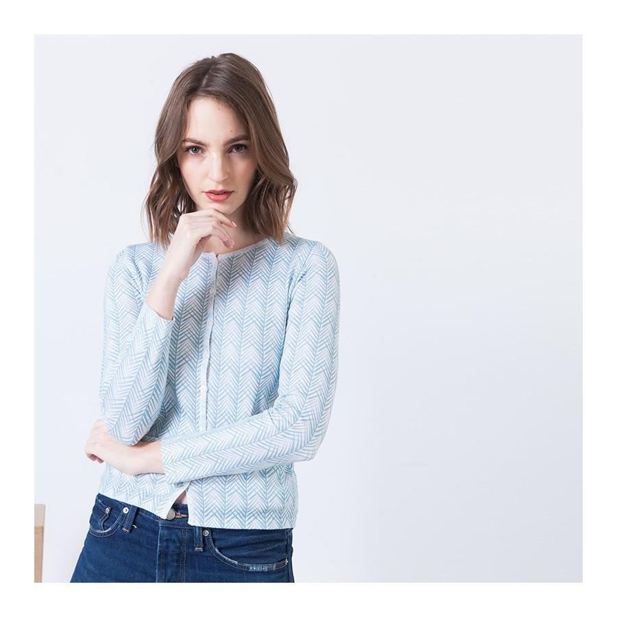 Gilet à motifs en coton Amour 6200 Blanc - 02 Blanc