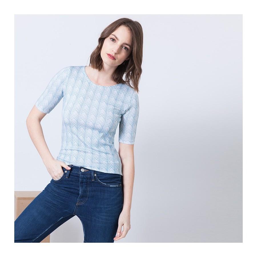 T-shirt à motifs manches coudes Aphrodite 6200 Blanc - 02 Blanc