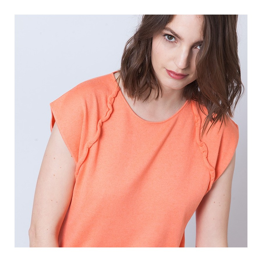 T-shirt sans manches Adriano 6270 Aurore - 15 Orange