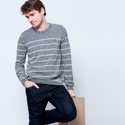 Striped cotton sweater Brian