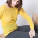 Pull en laine et soie Albin 6260 Mimosa - 08 jaune