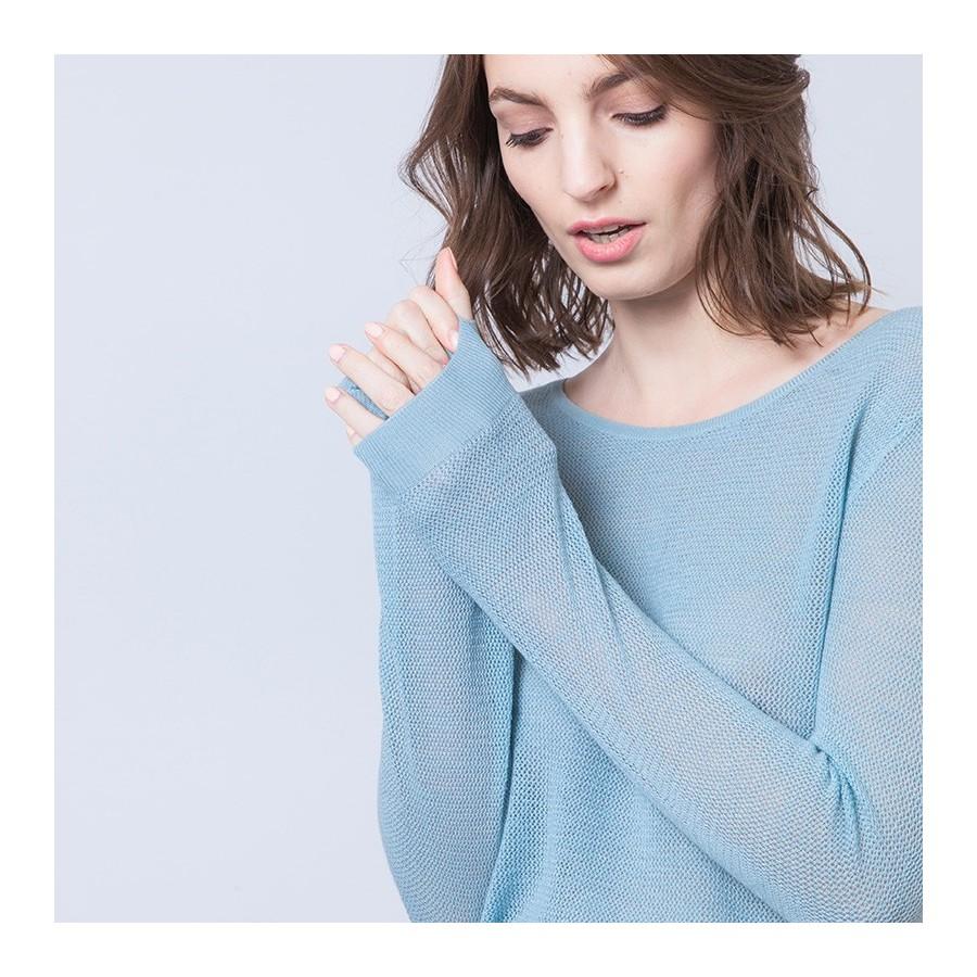 Pull en laine et soie Albin 6247 Austral - 04 Bleu clair