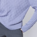 Pull coton femme manches longues Adel 6290 chardon - 16 Violet clair